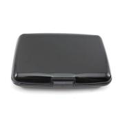 Aluminium Wallet ID Credit Card Holder Metal Business Card Case - Black