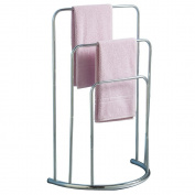 Home Discount® Towel Stand 3 Tier Bathroom Rack Free Floor Standing Towel  Holder Curved,