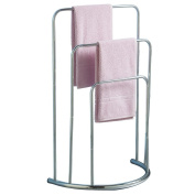 Home Discount® Towel Stand 3 tier Bathroom Rack Free Floor Standing Towel Holder Curved, In Chrome