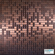 FLEXIPIXTILE, Modern Aluminium Mosaic Tile, Peel & Stick, Backsplash, Accent Wall, 0.09sqm,COPPER COIN