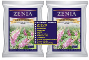 200g Zenia Pure INDIGO POWDER FOR HAIR colour INDIGOFERRA TINCTORIA (BLACK HENNA 100% NATURAL - NO PPD - NO CHEMICALS) CONDITIONING USA SELLER 2011 CROP