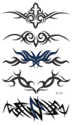 Supperb® Temporary Tattoos Art Sticker - Tribal Swirls Temporary Tattoo St-26