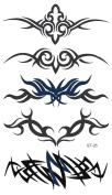 Supperb® Temporary Tattoos Art Sticker - Tribal Swirls Temporary Tattoo St-26