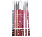 HHE 6 Pcs Waterproof Professional Lip Liner Pencil Long Lasting Lip Liner Pen