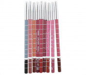 HHE 6 Pcs Waterproof Professional Lip Liner Pencil Long Lasting Lip Liner Pen