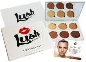 Powder Foundation and Contouring Makeup Palette - Easily Blended, Rich Pigment Face Powder Perfect for All Skin Tones - Includes FREE Built-in Makeup Mirror & Exclusive Tips for Instant Face Lifts