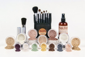 ULTIMATE KIT *Choose Your Shade* Full Size Mineral Makeup Brushes Set Bare Skin Sheer Powder Foundation Cover