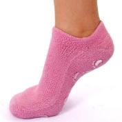EMILYSTORES Pink Moisturise Soften Repair Cracked Skin Moisturising Treatment Full Gel Jojoba Oil Vitamin E Spa Socks 1Pair