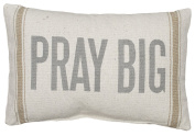 Primitives by Kathy 3-Stripe Pray Big Pillow, 38cm by 25cm , Tan