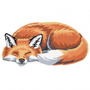 Exclusive What On Earth Sleeping Fox Hand-Hooked Accent Rug