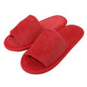 TowelRobes Kids Terry Open Toe Slippers
