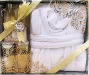 Love Vanilla Luxury Bath Spa Gift Set - Bathrobe, Shower Gel, Bubble Bath, Body Lotion, Body Scrub, Soap