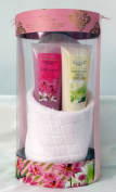 Opaline Garden Dreams Gift Set with Slippers and Bath Salts, Foot Scrub and Foot Cream Gift Boxed