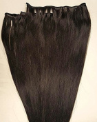 50cm Weft Hair, 100grs,Weft Weaving (Without Clips),100% Human Hair Extensions #1B Off Black
