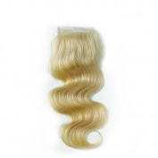 1 Piece Body Wave Swiss Lace Closure (4*4) Free Part Blonde Lace Closure 100% Real Human Hair Colour #613