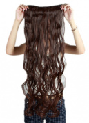 Sexybaby Curly 150G Synthetic Fibre Extensions Hair Clip-in 70cm with 5 Clips