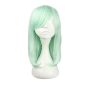 Mcoser 43cm Mint Green Medium Long Straight Lolita Wig