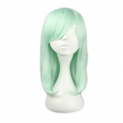 Mcoser 43cm Mint Green Medium Long Straight Lolita Wig