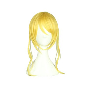 Love Live! Eli Ayase Cosplay Wig 35cm+10cm Yellow Clip on Pony Anime Hair