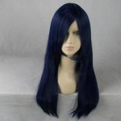 Lucky Star Konata Izumi/Fairy Tail Wendy Marvell 60cm Long Blue Cosplay Wig