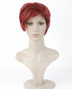 Dreamworld® High Quality Women's Short Wine Red Hair Heat Friendly Capless Wig+wig Cap Hj50