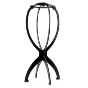 ASX Design Folding Stable Durable Wig Hair Hat Cap Holder Stand Holder Rack Display Tool - Black