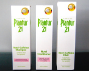 Dr Wolff Plantur 21 Shampoo, Conditioner and Tonic Elixir Trio for Coloured and Stressed Hair