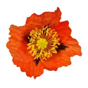 Medium Poppy Artificial Flower Hair Clip/Pin Brooch