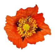 Medium Poppy Artificial Flower Hair Clip/Pin Brooch