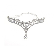 Wiipu Rhinestone Wedding Tiara Crown Teardrop Bridal Headband