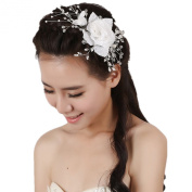 Wiipu Handmade Crystal Tiara Crown Bridal Wedding Party Headband Headpiece