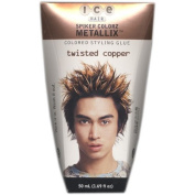 Ice Hair - Spiker Colorz Metallix Coloured Styling Glue, Twisted Copper, 50ml by Ice Hair