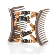 Hairzing Tribal Essential Plastic- Brown- Medium - The Patented Original