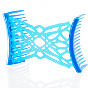 HairZing Celtic Comfy Combs- Turquoise- Medium - the Patented Original
