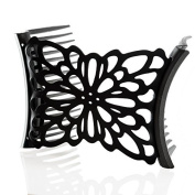 HairZing Flower Comfy Combs- Black- Medium - the Patented Original