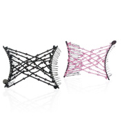 Hairzing Criss-cross 2-pack- Black / Pink- Medium - The Patented Original