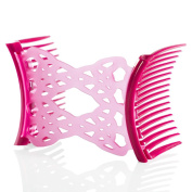 HairZing Ponytailer Comfy Combs-Fuchsia- Medium - the Patented Original