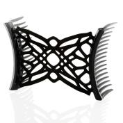 HairZing Ponytailer Comfy Combs- Black- Medium - the Patented Original