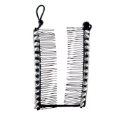 HairZing Spike S-T-R-E-T-C-H Banana Comb, Hair Accessory that is perfect for an Easy Ponytail, UpDo or Faux Hawk, Silver, Medium