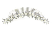 Faship Big Hair Comb Clear Crystal Pearl Flower