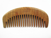 Myhsmooth GS-BY-MT Handmade Natural Green Sandalwood No Static Comb with Aromatic Scent for Detangling Curly Hair and Gift