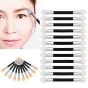 Susenstone® 12Pcs Makeup Double-end Eye Shadow Eyeliner Brush Sponge Applicator Tool