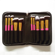 Professional Kabuki Makeup Brush Set Premium 10 PCS Kit Brushes for Foundation with Bag