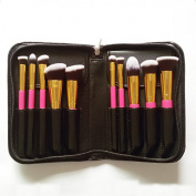 Professional Kabuki Makeup Brush Set Premium 10 PCS Kit Brushes for Foundation with Bag