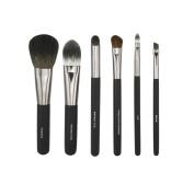 AMarkUp 6 Pcs Professional Makeup Brushes Set Kit Cosmetics Set Eyeshadow Eyeliner Smudge Tool with Leather Case
