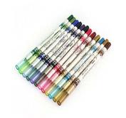 BYM 12 Colour Lip Eyebrow Plastic Glitter Pencil Pen Cosmetic Makeup Set Kit Eyeliner