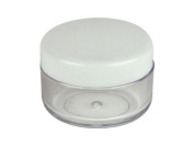 NEW 25pcs 3 Gramme 3ml Round Plastic Empty Cosmetics Cream Pot Jar Eye Shadow Nails Powder Jewellery Sample Storage Container With White Lid