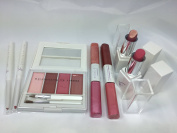 "Victoria's Jackson ""No Make Up"" Make Up set Pink Natural 7 pieces lip liner,Lipsticks,Lip Gloss, Lip Creame."