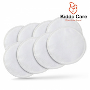 #1 Premium Quality Nursing Pads (8 pack) + FREE eBook, Bra Pads, Ultra Soft, Hypoallergenic , Organic Bamboo, Reusable, Washable, Super Absorbent, Leak Proof, Go Kiddo Care!!