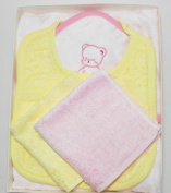 Baby Gift Set. Bamboo Hooded Towel, Washcloths (2) and Bib. High Quality, Silky Soft, Antibacterial, Hypoallergenic, Mildew Resistant, Highly Absorbent, Sustainable.